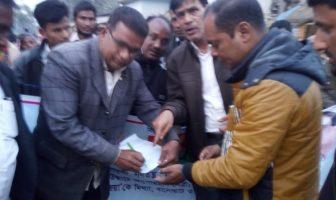 বিএনপির চেয়ারপারসন বেগম খালেদা জিয়ার মুক্তির দাবিতে বালিয়াডাঙ্গীতে বিএনপির গণস্বাক্ষর কর্মসূচীর উদ্বোধন