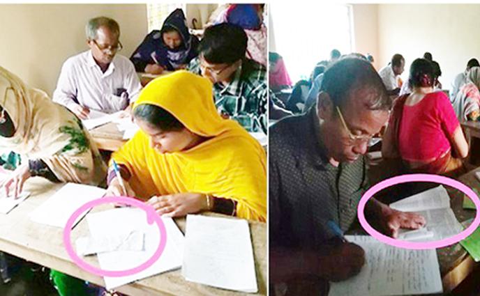 ঠাকুরগাঁওয়ের রাণীশংকৈলে উম্মুক্ত বিশ্ববিদ্যালয়ের পরীক্ষা হয় উম্মুক্তভাবেই