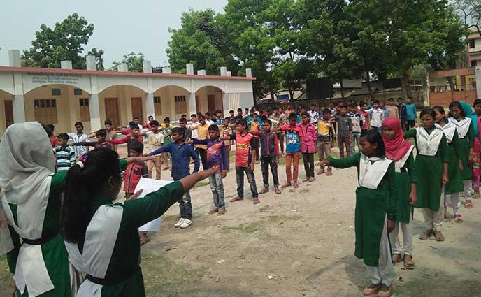 নীলফামারীতে দুর্নীতি না করার শপথ নিলেন শিক্ষার্থীরা