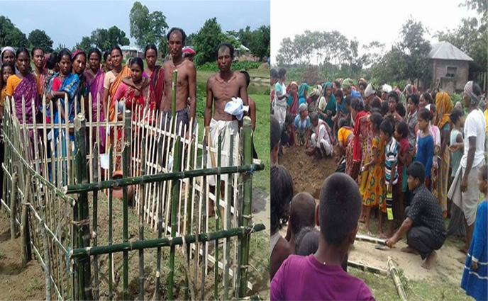 ঠাকুরগাঁওয়ে শ্মশানে সৎকারে বাঁধা ও দুই ছেলে আহত