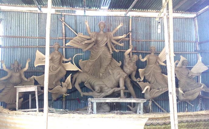 পীরগঞ্জে ১১২ মন্ডপে দূর্গা পূজার ব্যাপক আয়োজন