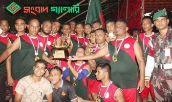 ময়মনসিংহে বিজিবি-বিএসএফ নৌকা বাইচ প্রতিযোগিতা বিজিবি জয়ী